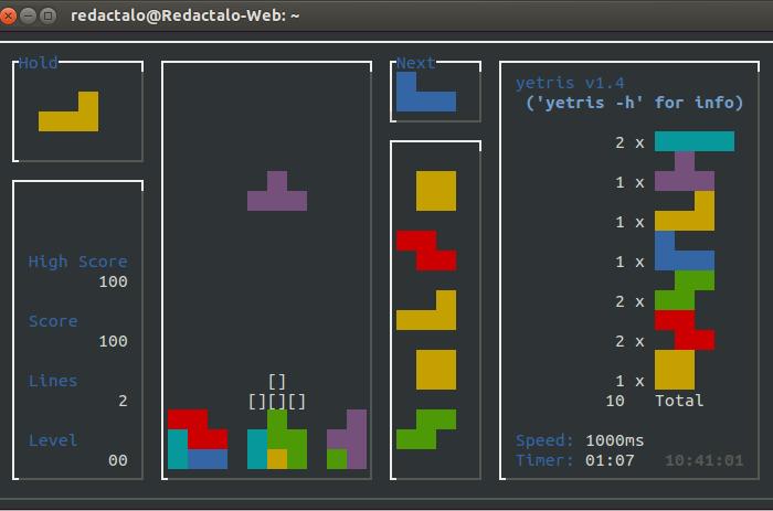 Jugar al tetris desde la terminal en Linux