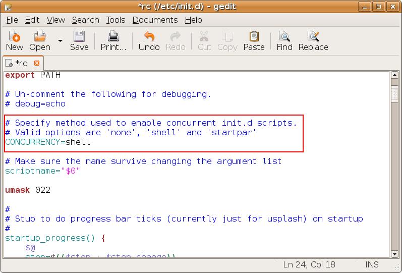 cambiar valores Ubuntu arrancar más rápido