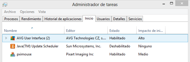 Administrador de tareas Windows 8 inicio width= height=