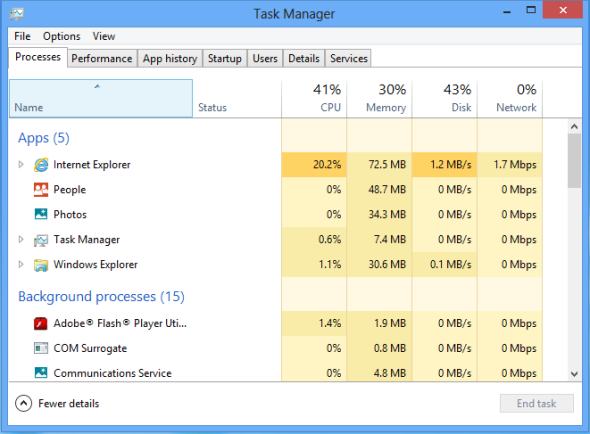 Administrador de tareas de Windows 8 width= height=