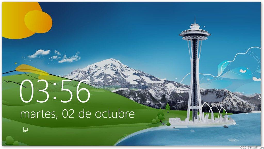 Imagen de cierre de sesión de Windows 8