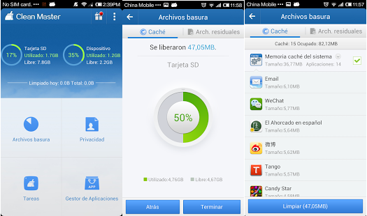 Optimiza el rendimiento de tu dispositivo Android con Clean Master