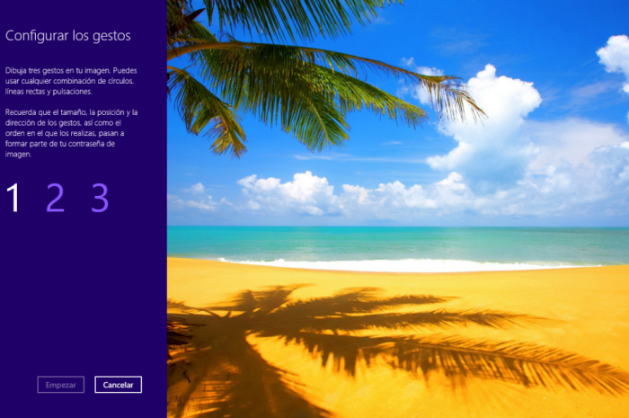 Crear una contraseña de imagen en Windows 8