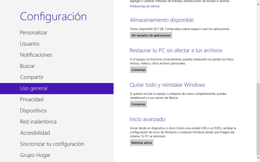 Desactivar secure boot desde Windows 8