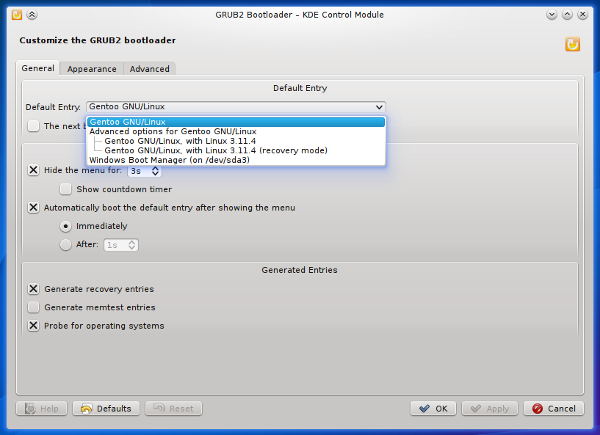 Editar el grub de Linux con GRUB2 Editor 0.6.4