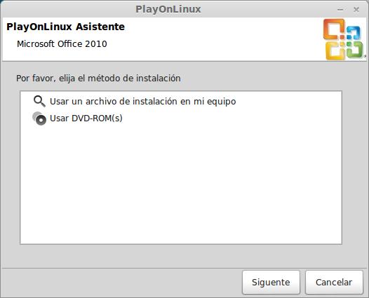 Instalar MS Office 2010 desde playonlinux en ubuntu