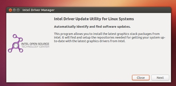 Instalar Intel Driver Manager 1.03 para Ubuntu 13.10