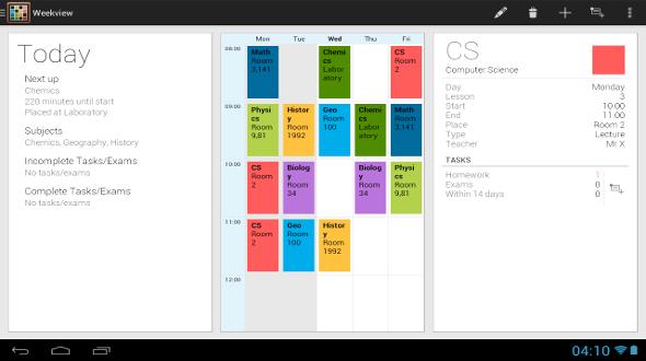 Gestionar horarios con Timetable en Android