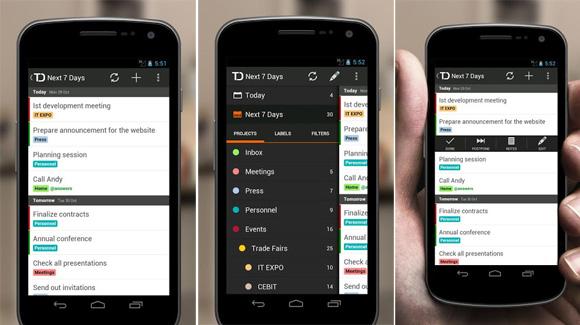 Organice mejor su día con Todoist en Android