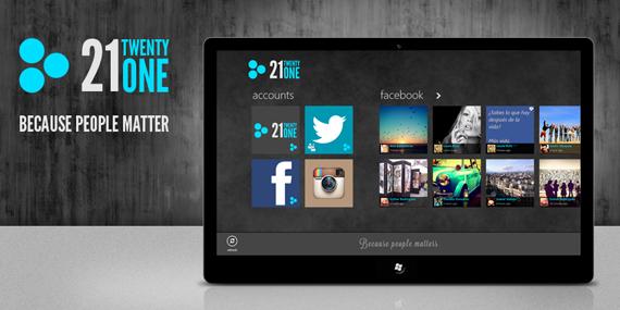 Lo mejor de cada red social con TwentyOne en Windows 8