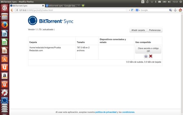 Sincronizar carpetas entre Android y Linux con BitTorrent Sync