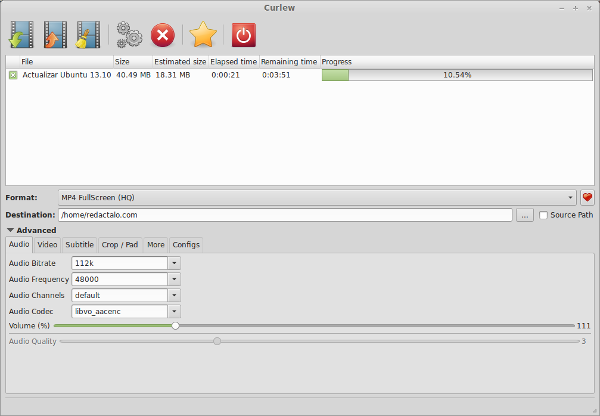 Curlew, un potente conversor de vídeos para Ubuntu y derivados