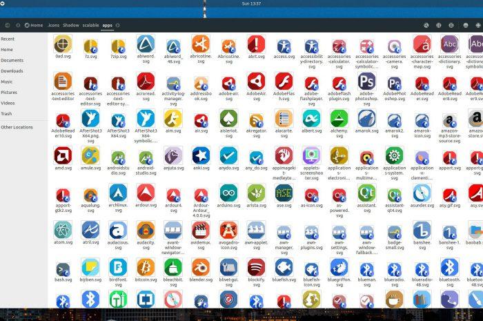 Instalar el set de iconos Shadow en Linux